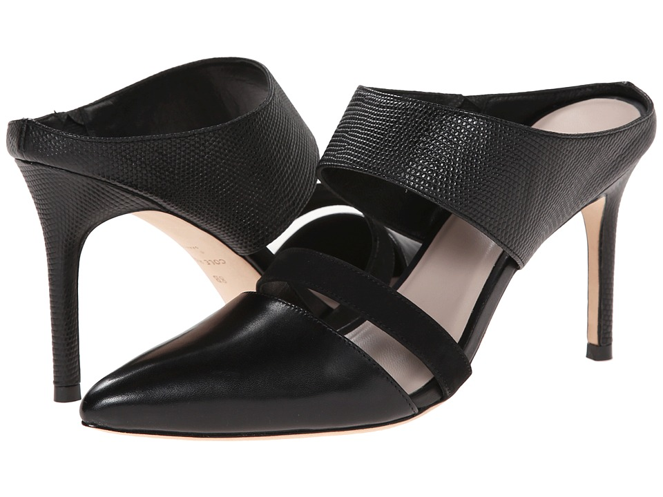 Cole Haan Lexington Pump 85 (Black/Nubuck/Lizard Print) High Heels