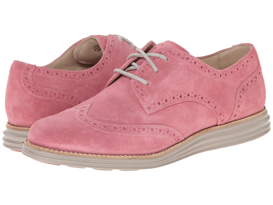 Cole Haan - LunarGrand Wing Tip (Dusty Rose Suede/Silver Cloud) Women's Lace Up Wing Tip Shoes