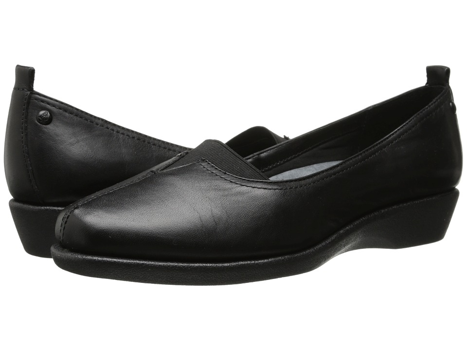 Hush Puppies - Pearl Carlisle (Black Leather) Women's Shoes