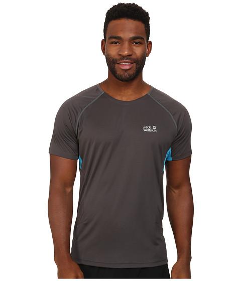 Jack Wolfskin - Passion Trail T-Shirt (Dark Steel) Men's Clothing
