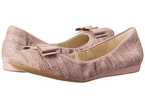 Cole Haan - Tali Bow Ballet (Light Mauve Snake Print) Women's Slip on Shoes