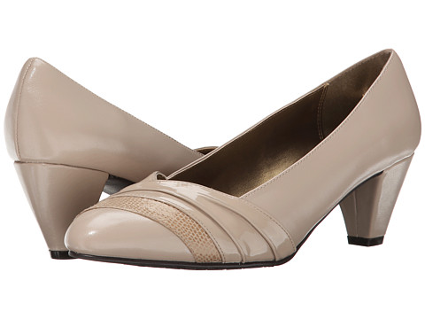Soft Style - Danette (Light Taupe Elegance/Patent) Women's 1-2 inch heel Shoes