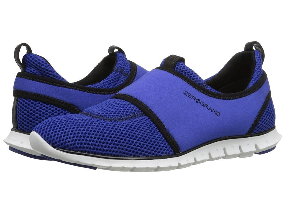Cole Haan - Zerogrand Slip-On Sneaker (Bristol Blue Mesh/Black/Optic White) Women's Slip on Shoes