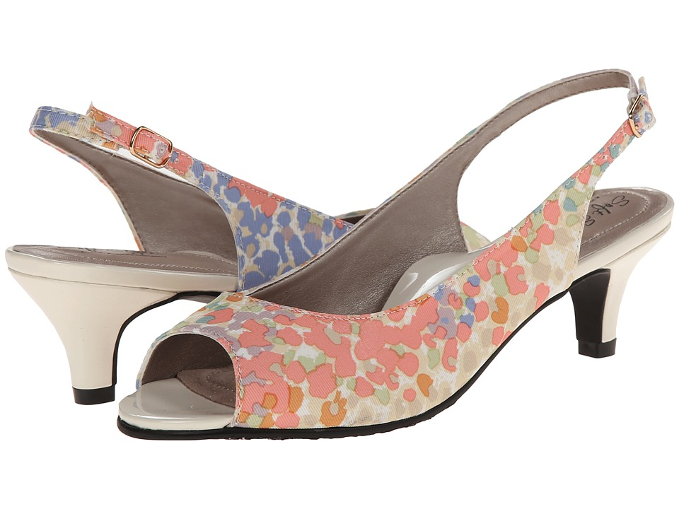 Soft Style - Analee (Pastel Floral Grosgrain) Women's 1-2 inch heel Shoes