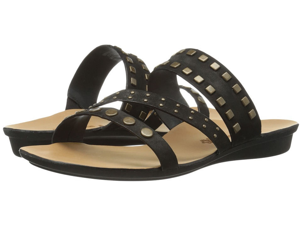 Paul Green - Casual Sandal (Black Leather) Women's Sandals