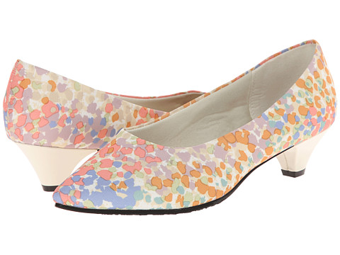Soft Style - Alesia (Pastel Floral Grosgrain) Women's 1-2 inch heel Shoes