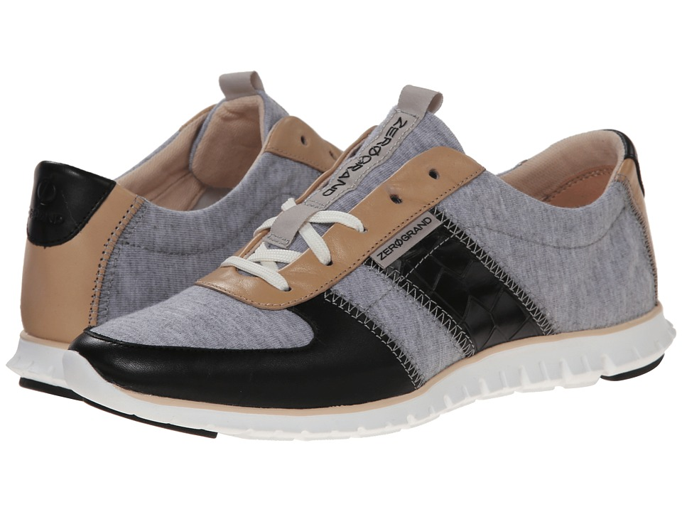 Cole Haan Zerogrand Sneaker (Heather Grey/Black/Black Croc) Women