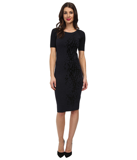 Elie Tahari - Betty Sweater Dress (Oxford/Black) Women's Dress