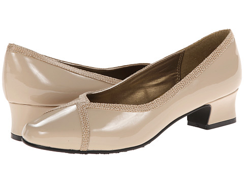 Soft Style - Lanie (Light Taupe Patent/Lizard) Women's 1-2 inch heel Shoes