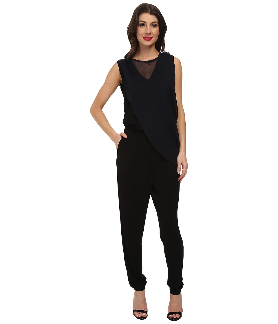 Elie Tahari - Kristina Jumpsuit (Black) Women's Jumpsuit & Rompers One Piece