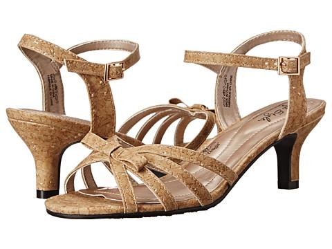 Soft Style - Mae (Cork/Metallic) Women's 1-2 inch heel Shoes