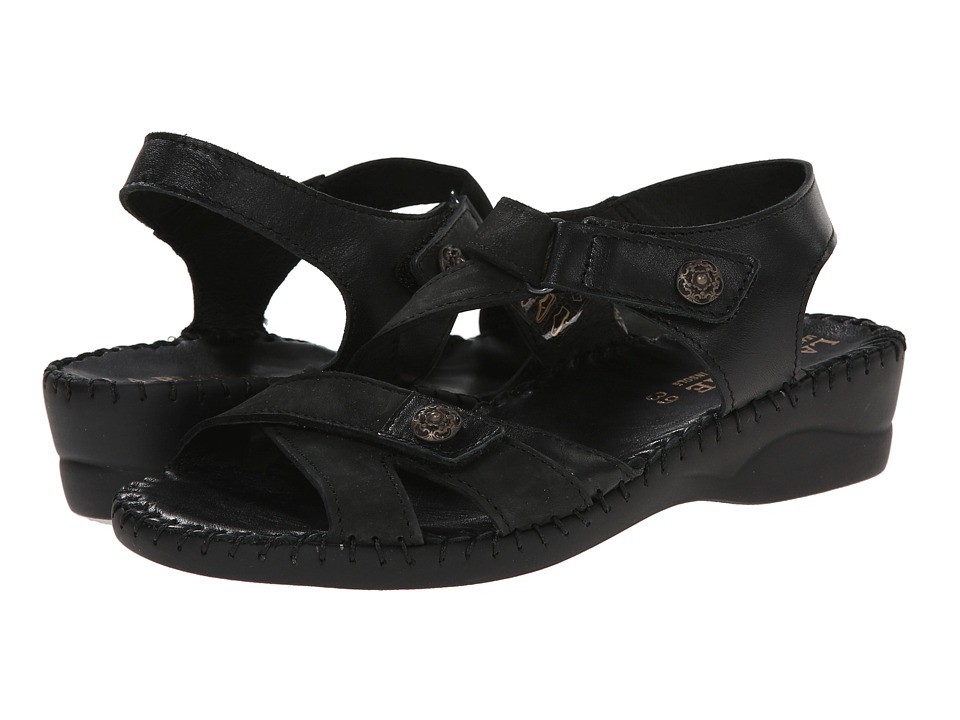 La Plume - Steffi (Black Croco) Women