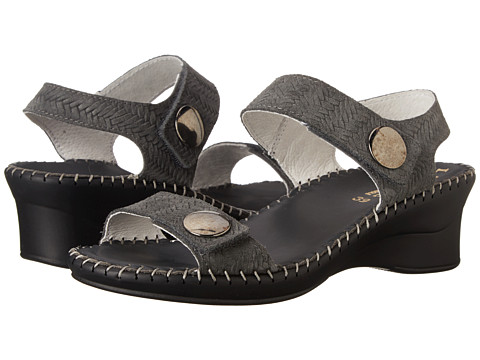 La Plume - Abigail (Grey Woven) Women's Sandals