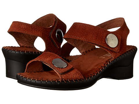La Plume - Abigail (Brown Woven) Women's Sandals