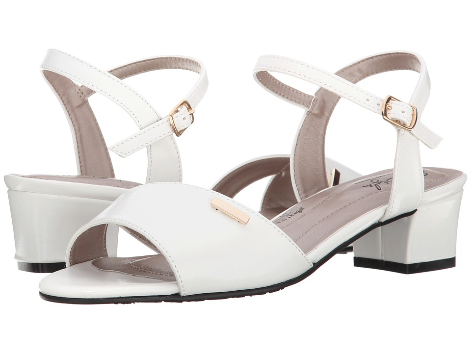 Soft Style - Erin (White Kid) Women's 1-2 inch heel Shoes