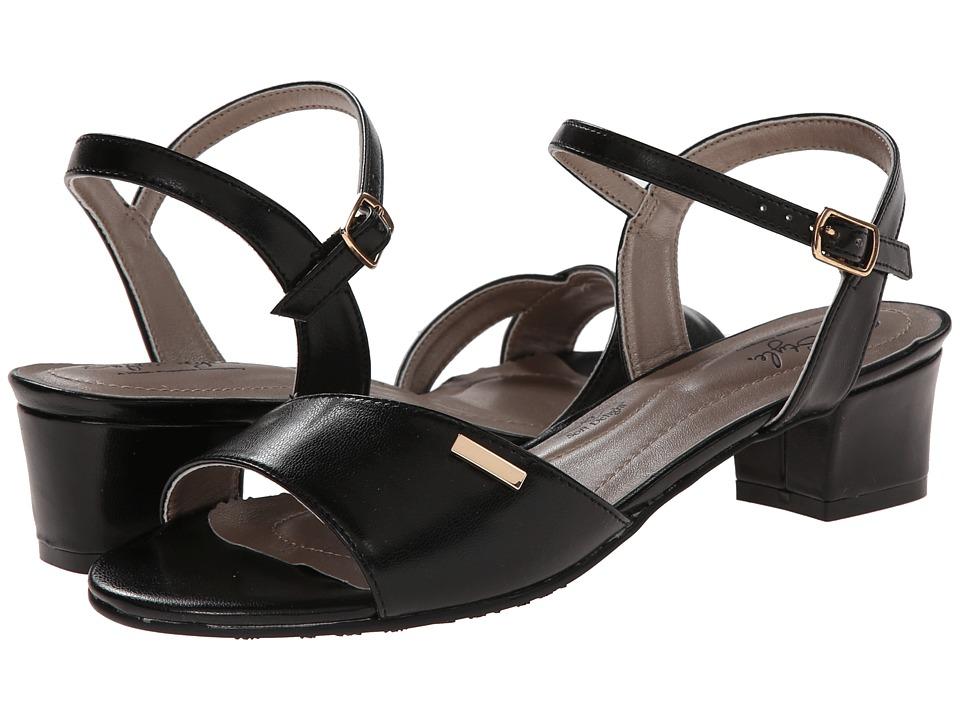 Soft Style - Erin (Black Kid) Women's 1-2 inch heel Shoes