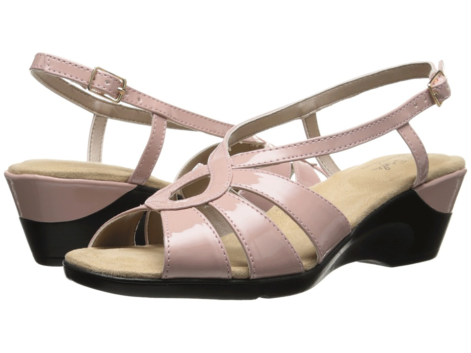 Soft Style - Paci (Soft Pink Patent) Women's Wedge Shoes