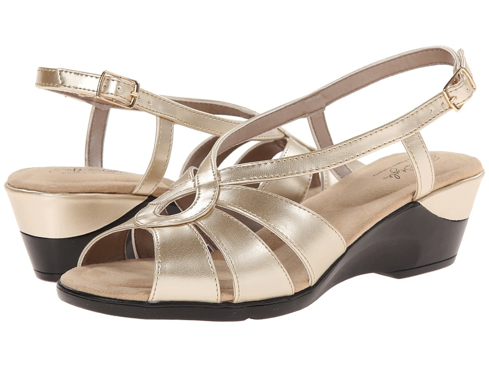 Soft Style - Paci (Platinum) Women's Wedge Shoes