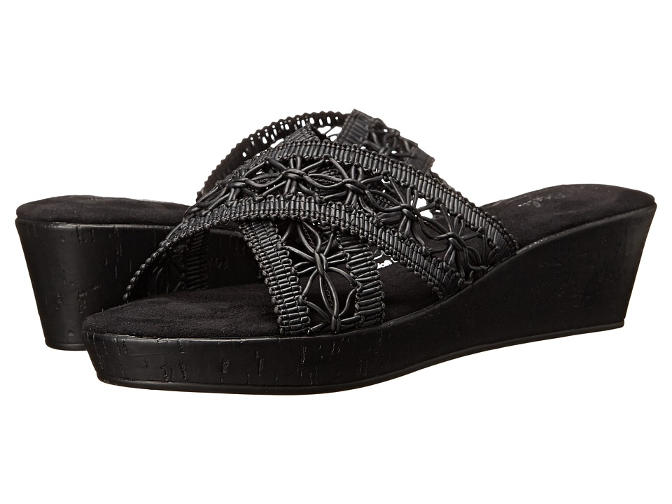 Soft Style - Jerilyn (Black Macrame) Women's Wedge Shoes