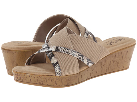 Soft Style - Jessie (Natural Elastic/Pearlized Python) Women's Wedge Shoes