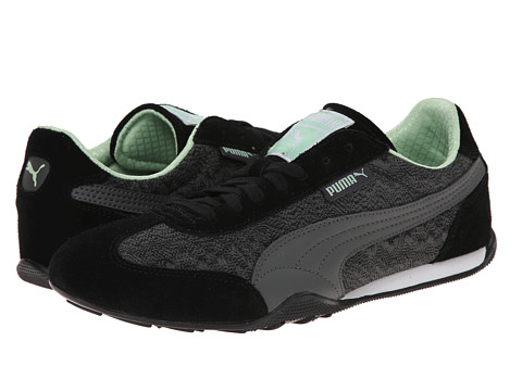 PUMA - 76 Runner Zig Zag (Black/Dark Shadow Green) Women