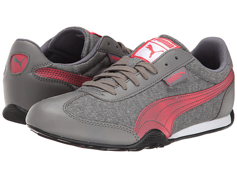PUMA - 76 Runner Woven (Steel Gray/Geranium) Women's Shoes