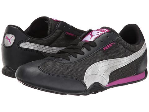 PUMA - 76 Runner Woven (Black/Vivid Viola) Women's Shoes
