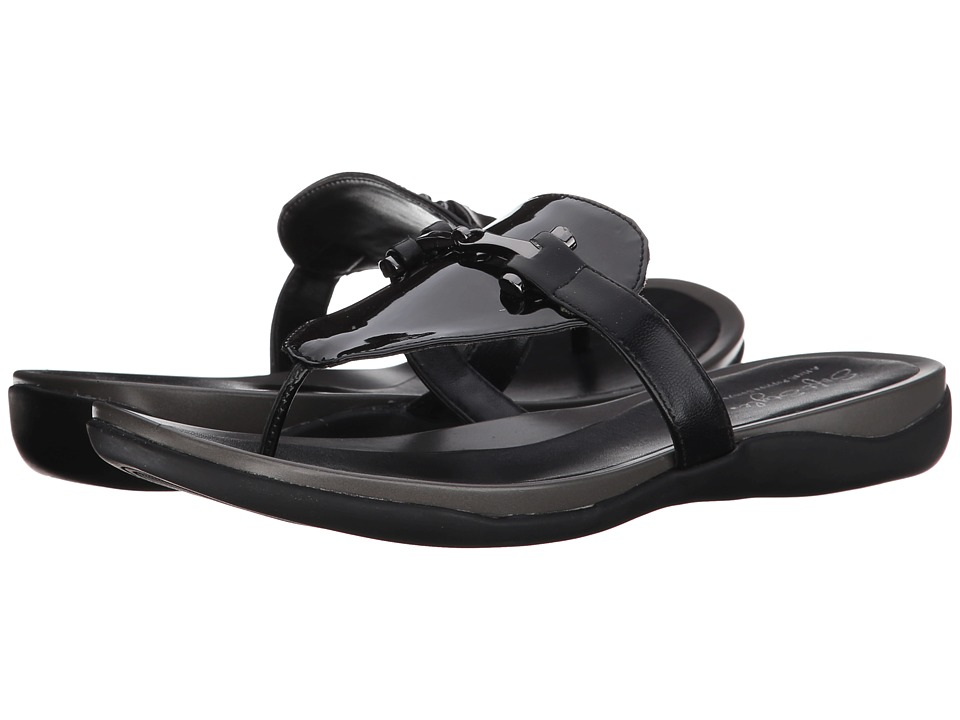 Soft Style - Rosita (Black Pearlized Patent/Black Kid) Women's Sandals