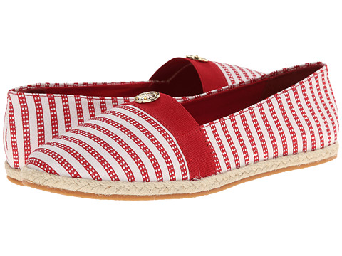 Soft Style - Hillary II (Red Railroad Stripe) Women's Flat Shoes