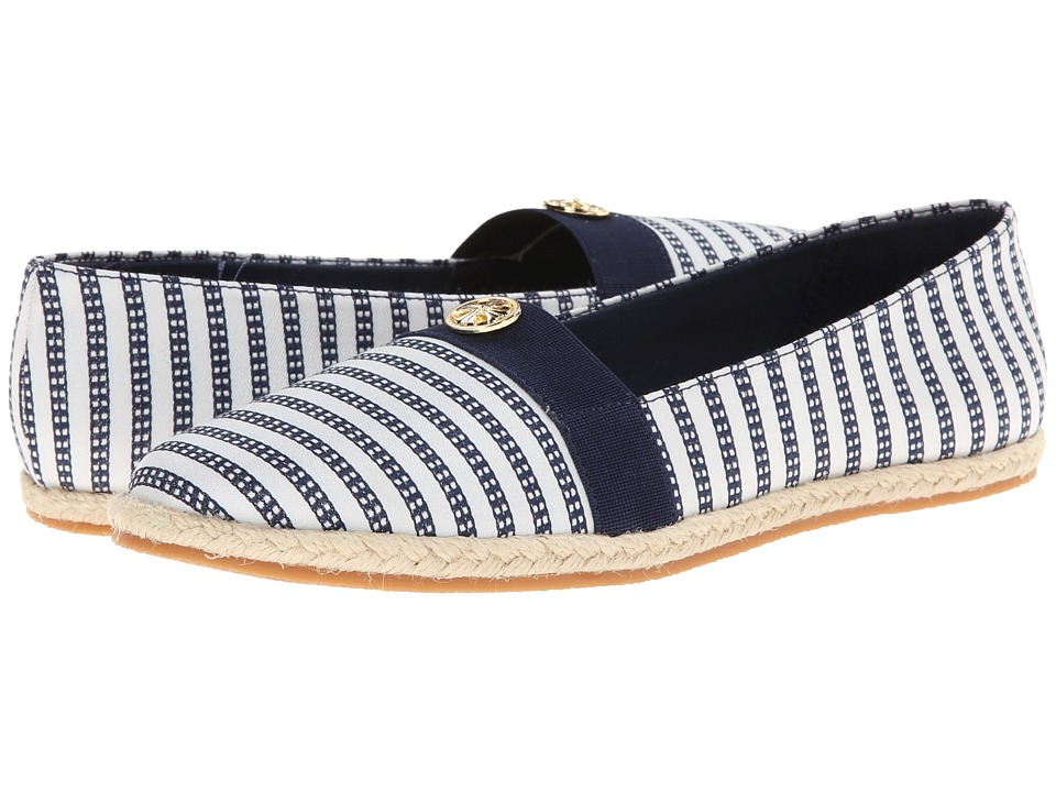 Soft Style - Hillary II (Navy Railroad Stripe) Women's Flat Shoes