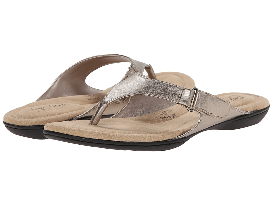 Soft Style - Ezzo (Light Pewter Leather) Women's Sandals