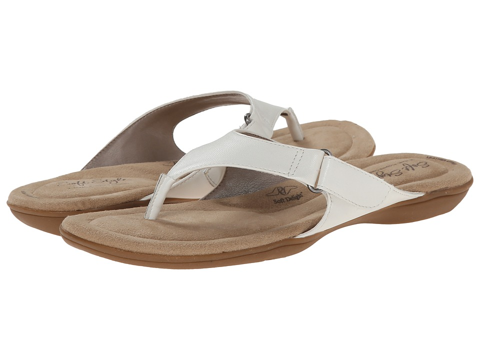 Soft Style - Ezzo (White Leather) Women's Sandals