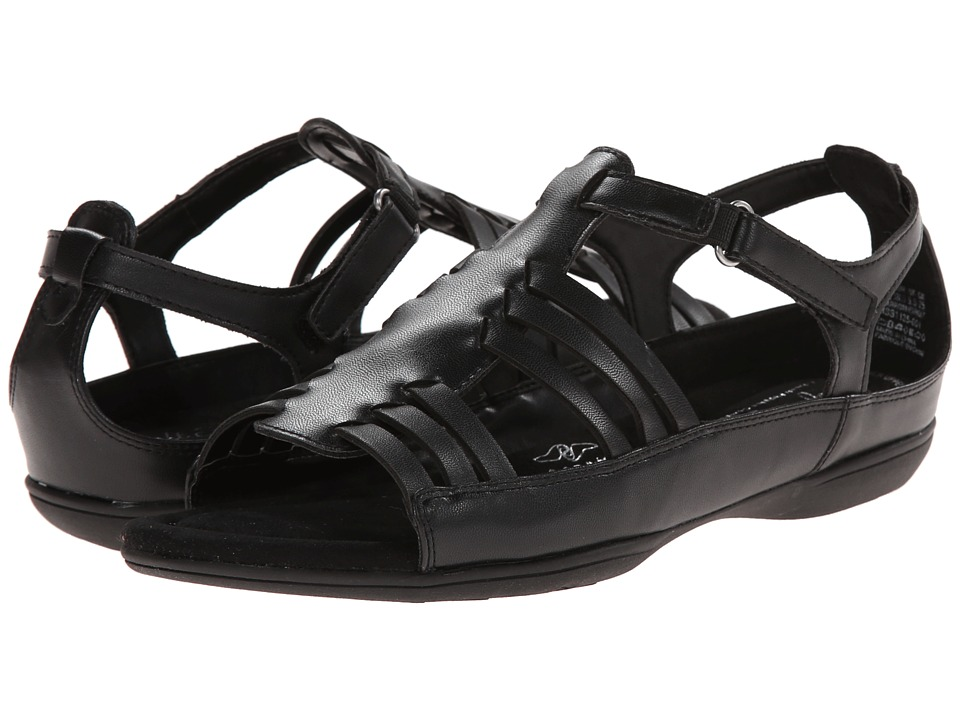 Soft Style - Eaby (Black Leather) Women's Sandals