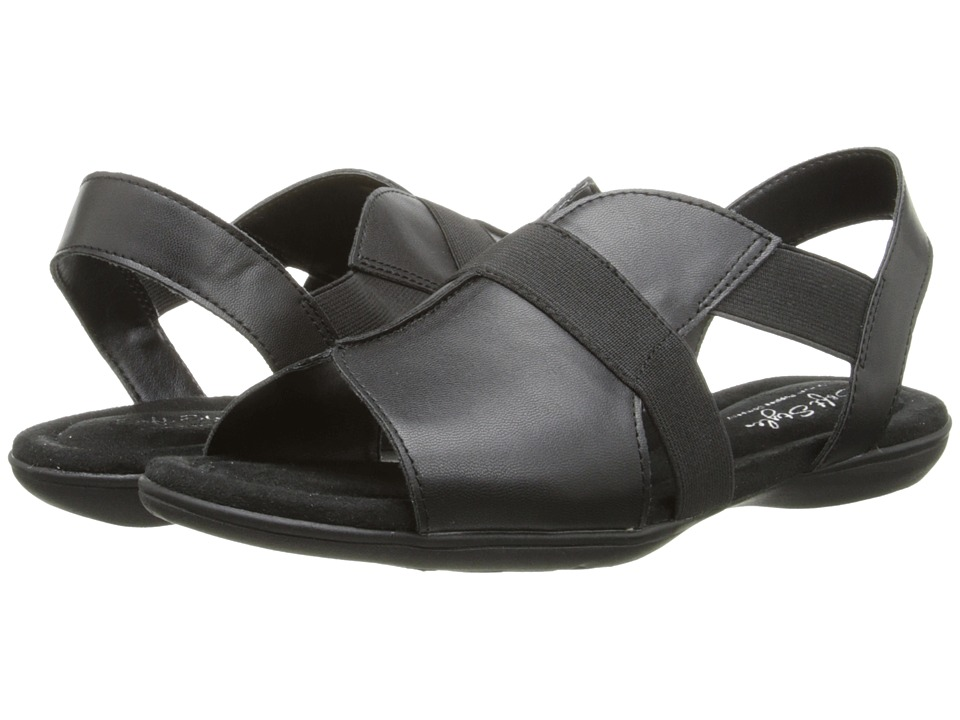 Soft Style - Eves (Black Leather) Women's Sandals