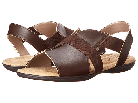 Soft Style - Eves (Dark Brown Leather) Women's Sandals