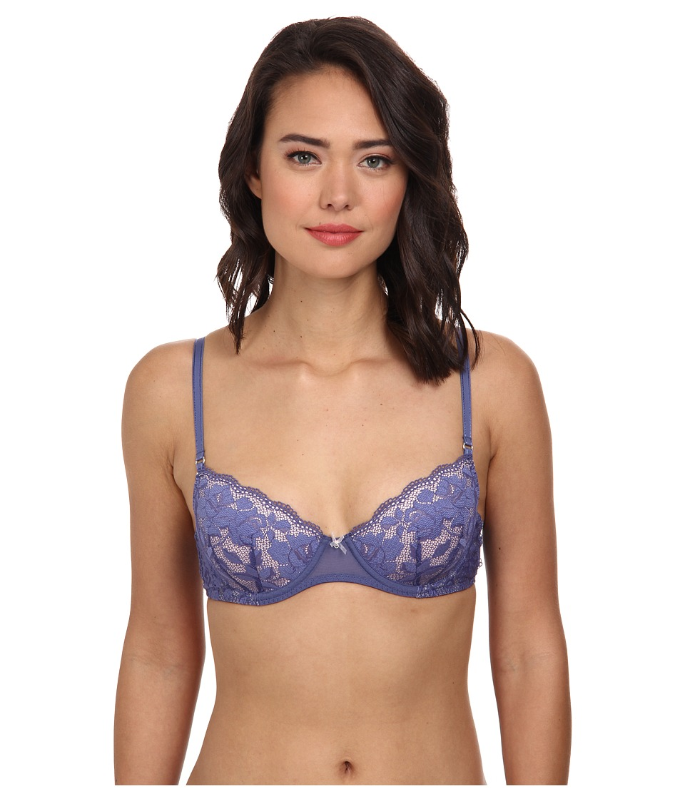 Betsey Johnson - Starlet Lace Balconette 723801 (Blue Jeans) Women's Bra