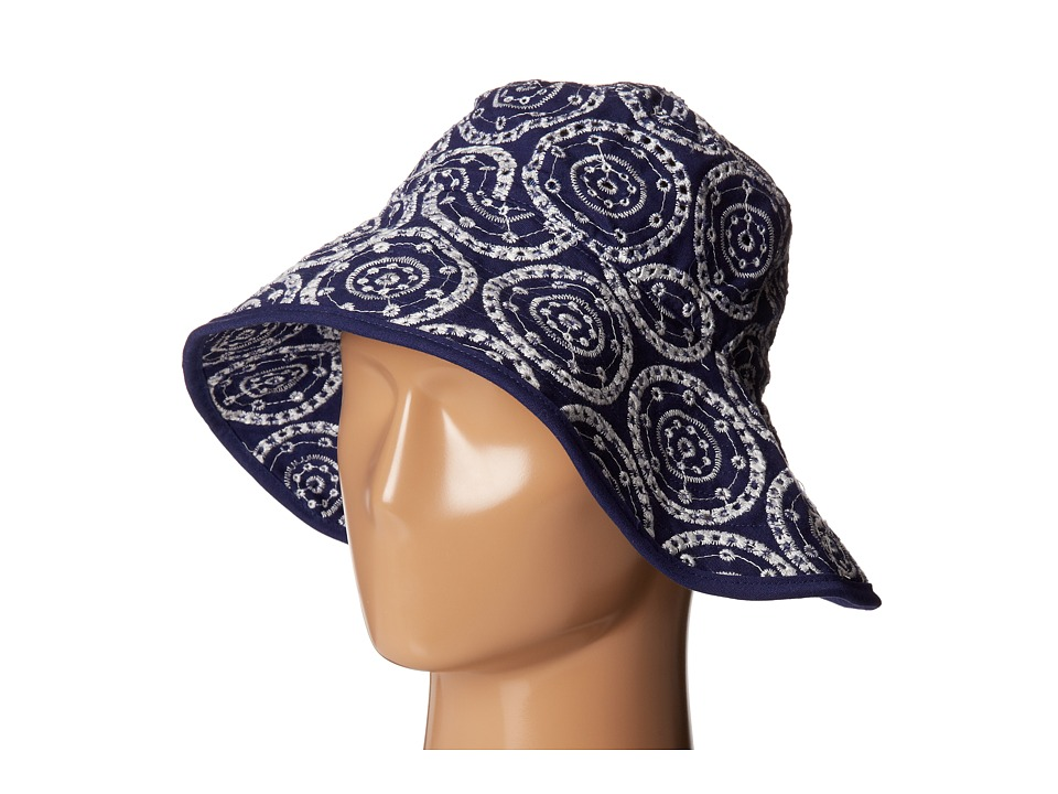 Echo Design - Eyelet Dot Oval Hat (Navy) Bucket Caps