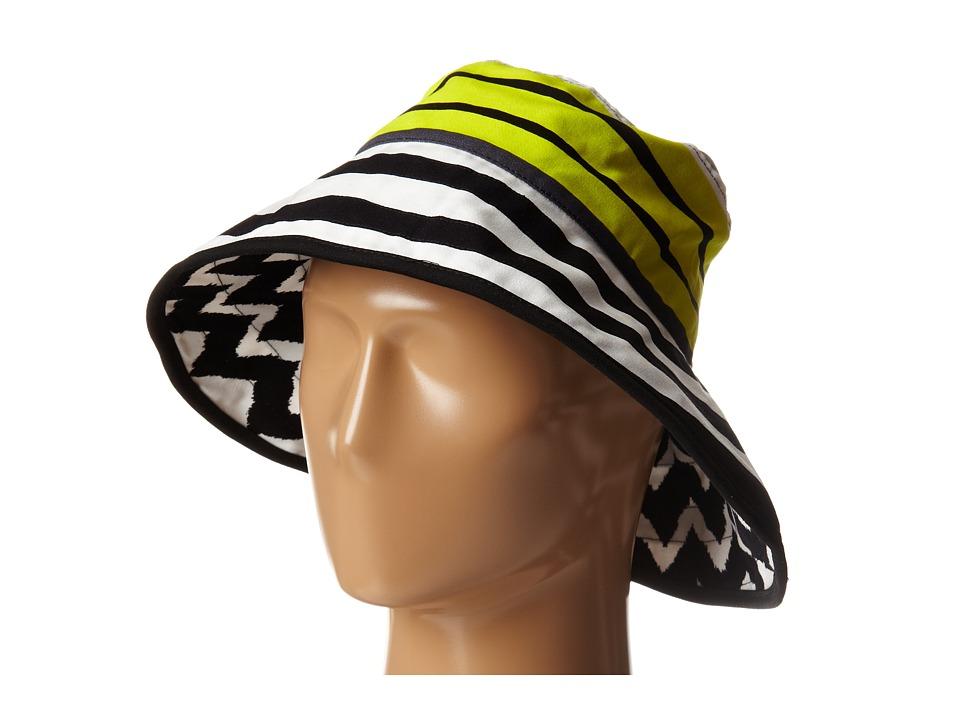 Echo Design - Sailing Stripe Oval Hat (Black) Bucket Caps
