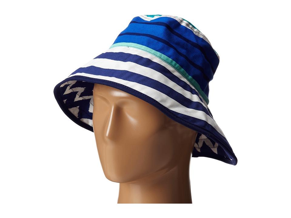 Echo Design - Sailing Stripe Oval Hat (Navy) Bucket Caps