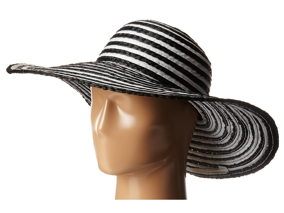 Echo Design - Metallic Ribbon Floppy Hat (Black) Bucket Caps