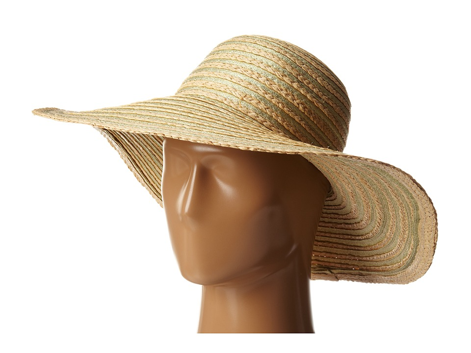 Echo Design - Metallic Ribbon Floppy Hat (Natural) Bucket Caps