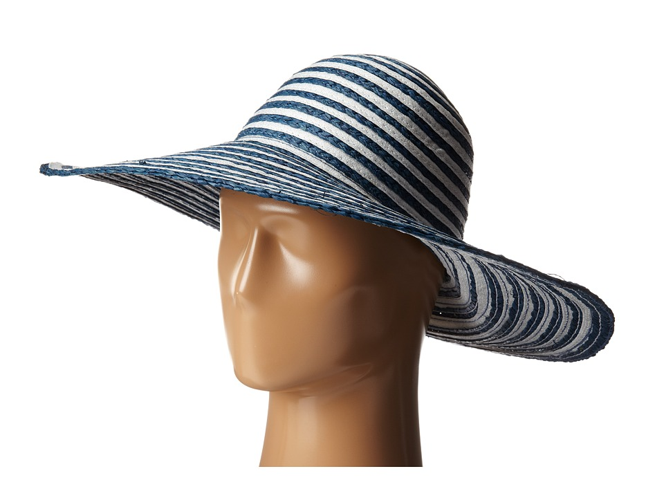 Echo Design - Metallic Ribbon Floppy Hat (Navy) Bucket Caps