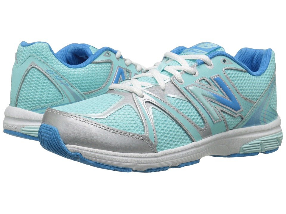New Balance Kids - 697 (Little Kid/Big Kid) (Blue/Silver) Girls Shoes