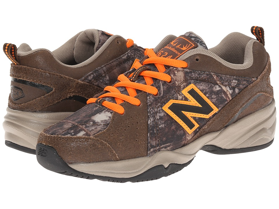 New Balance Kids - 624v2 (Little Kid/Big Kid) (Camo/Orange) Boys Shoes