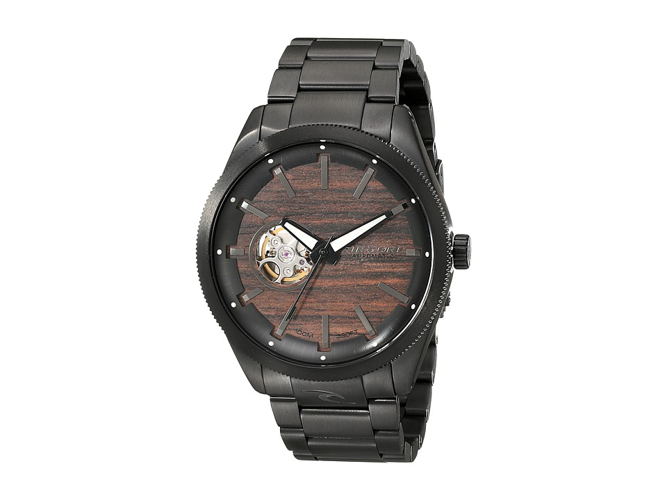 Rip Curl - Civilian Midnight Automatic (Midnight Wood) Watches