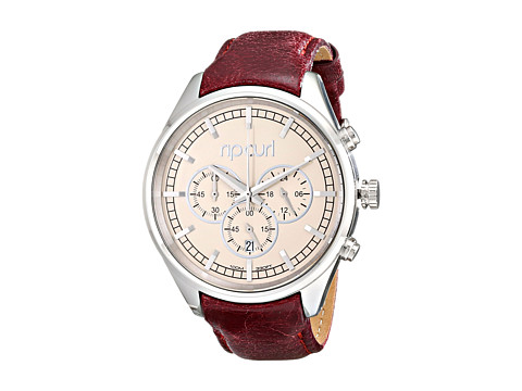 Rip Curl - Bailey Chrono Leather (Beige) Watches