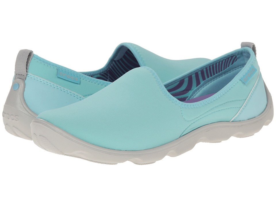 Crocs - Duet Busy Day Skimmer (Ice Blue/Pearl White) Women