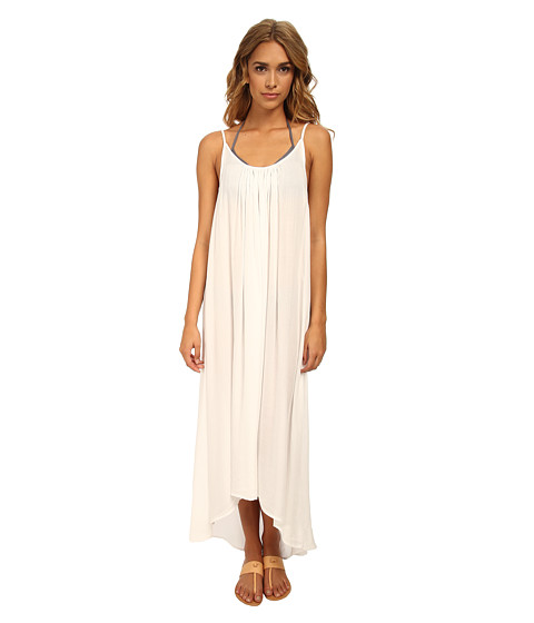 MIKOH SWIMWEAR - Biarritz Scoop Neck with Low Back Maxi Dress Cover-Up (Foam) Women