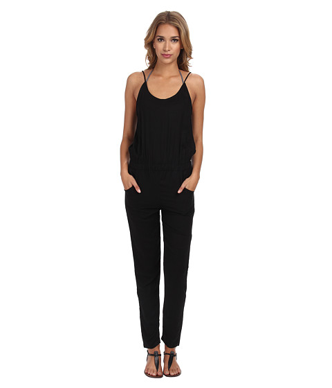 MIKOH SWIMWEAR - Nazare Thin Strap Pant Romper with Scoop Neck and Back Detail Cover-Up (Night) Women
