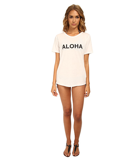 MIKOH SWIMWEAR - New Caledonia (Cotton) Oversized Crew Neck T-Shirt Cover-Up (Aloha) Women's Swimwear